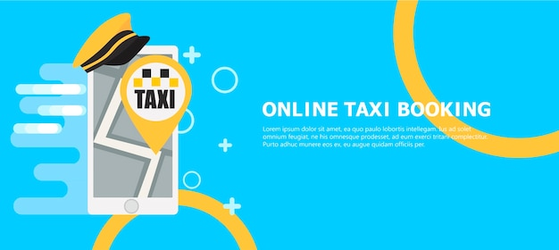Online-taxi-buchungsbanner