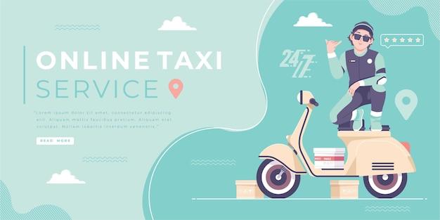 Online-taxi-fahrrad-service