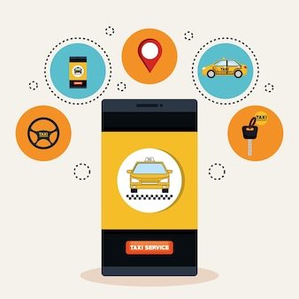 Online taxi service smartphone anwendung transport