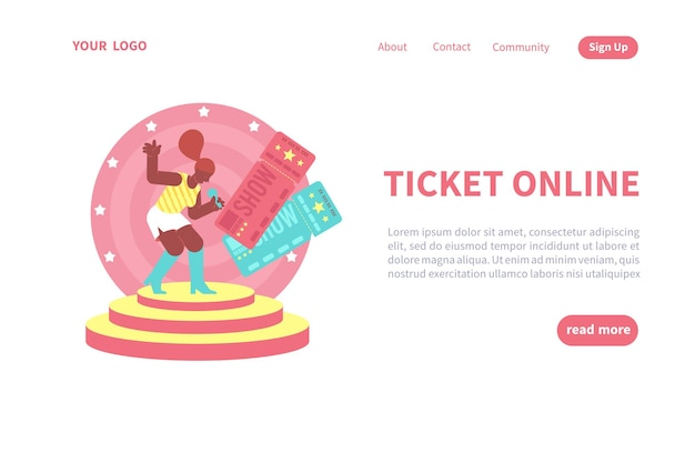Online-ticket-landingpage-vorlage
