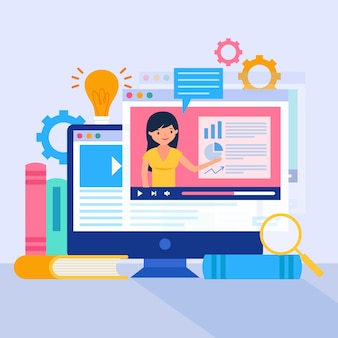 Online-tutorials konzept