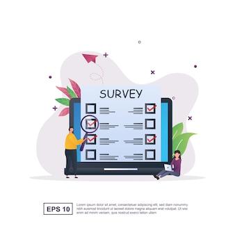 Online-umfrage mit der person, die wählt.