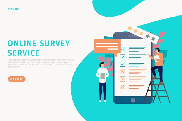 Online-umfrage-website