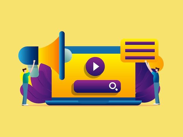 Online- und digitales medienmarketing