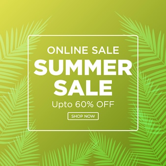 Online-verkauf sommer sale banner-design summer