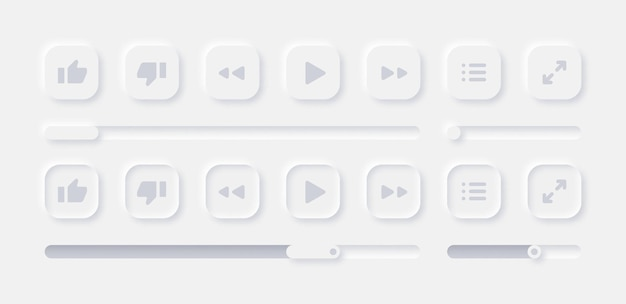 Online video media player ui-elemente festgelegt