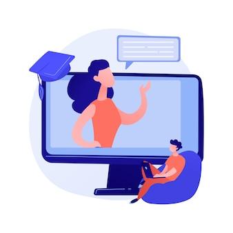 Online-vorlesung. fernunterricht, selbstbildung, internetkurse. e-lerntechnologien