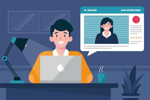 Online-vorstellungsgespräch
