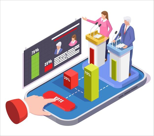 Online-wahltechnologie für präsidentschaftswahlen.