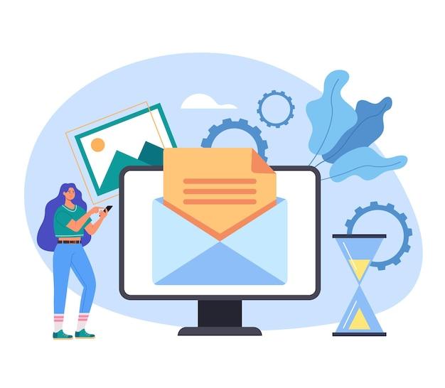 Online web internet elektronische nachricht spam feedback globale kommunikationsmail