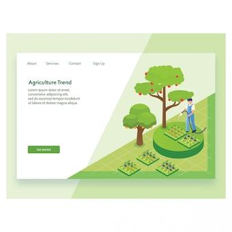 Online-webseitenvorlage für landwirtschaftliche produkte