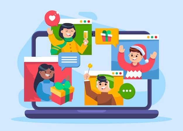 Online-weihnachtsfeier vorlage