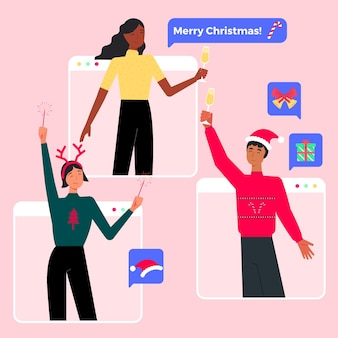 Online-weihnachtsfeier wegen epidemie