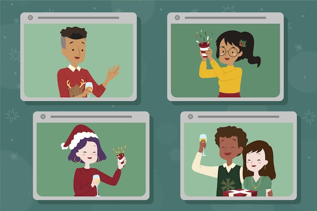 Online-weihnachtsfeier