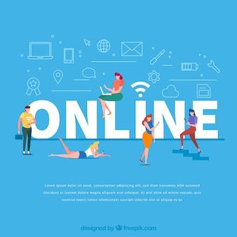 Online-wort-konzept