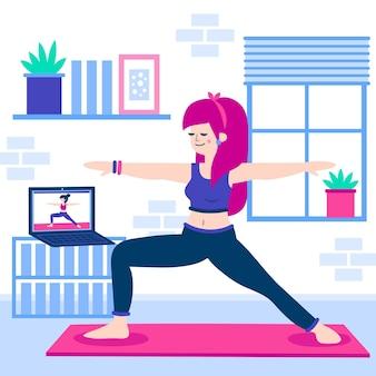 Online yoga klasse thema