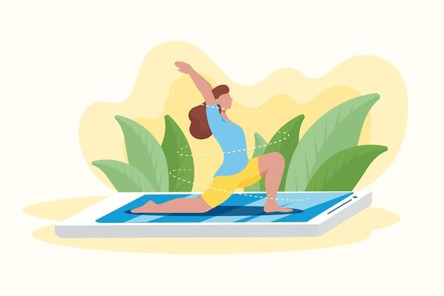 Online yoga klassenkonzept