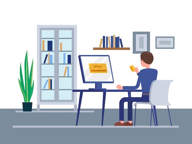 Online-zahlungskonzept