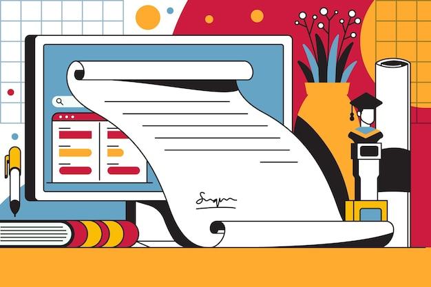 Online-zertifizierung für hochschulabsolventen