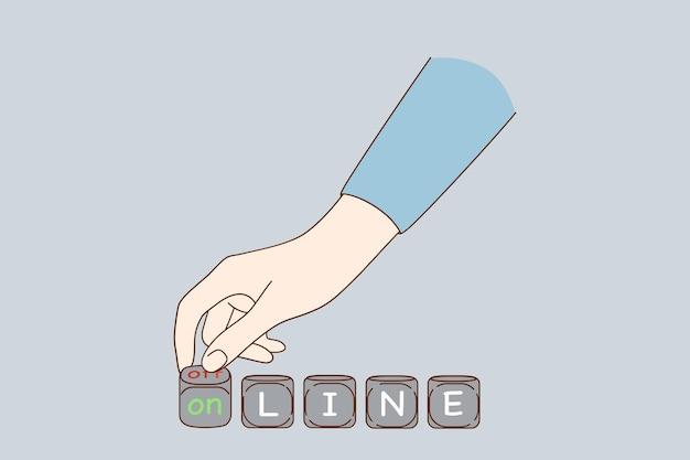Online zu offline-konzept machen