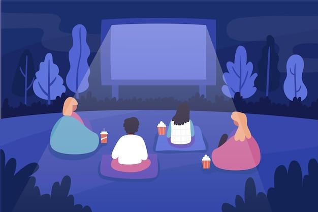 Open air kino illustration