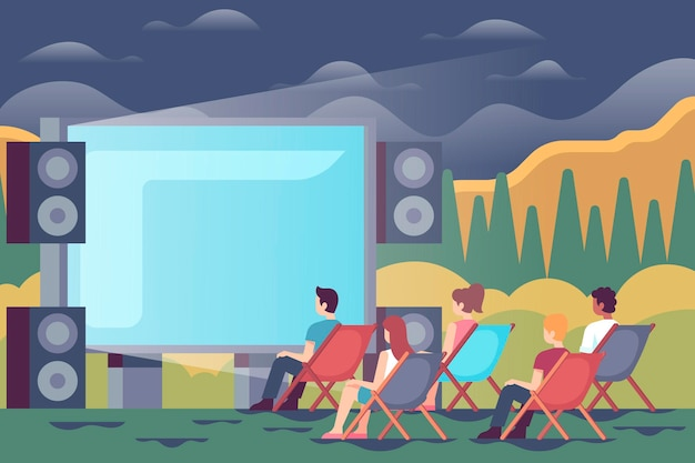 Open air kino illustration