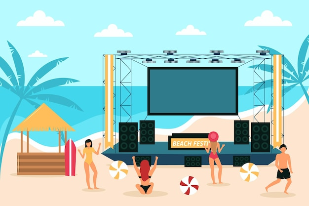 Open air konzert am strand