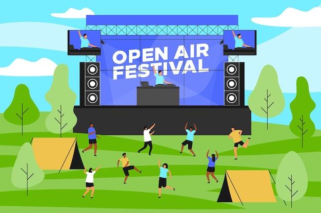 Open air konzert illustration