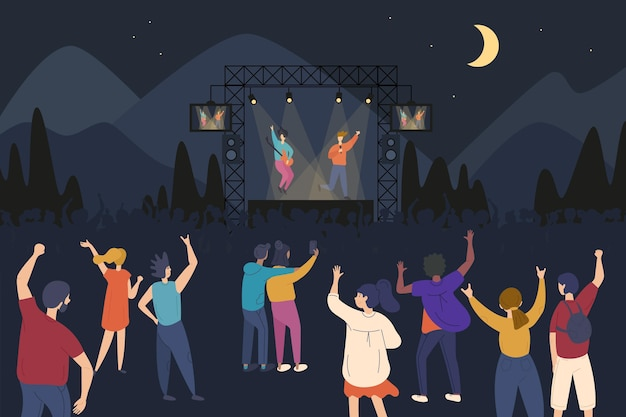 Open air konzert illustration