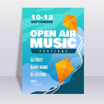 Open air musikfestival poster