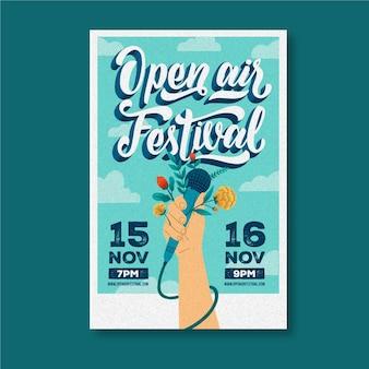 Open air musikfestival poster