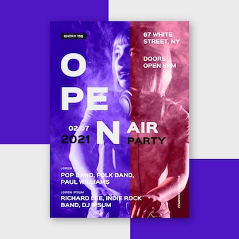 Open air party poster konzept