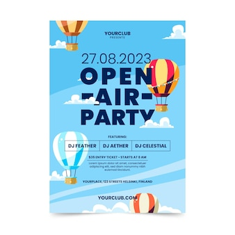 Open air party poster vorlage