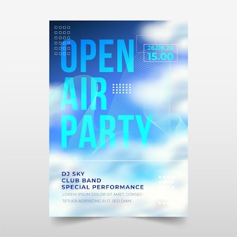 Open air party poster