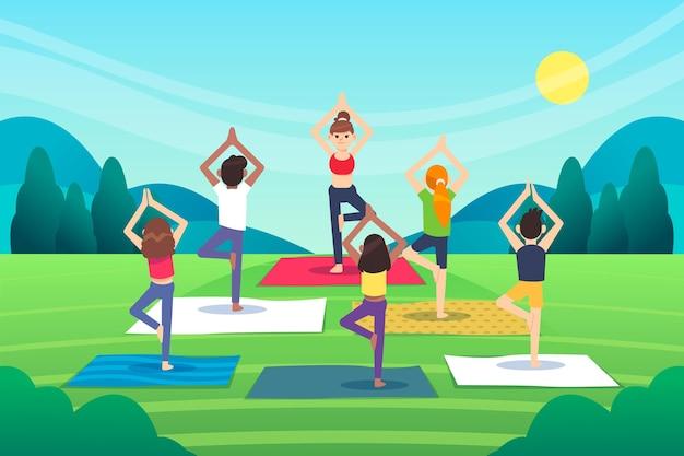Open air yoga kurs