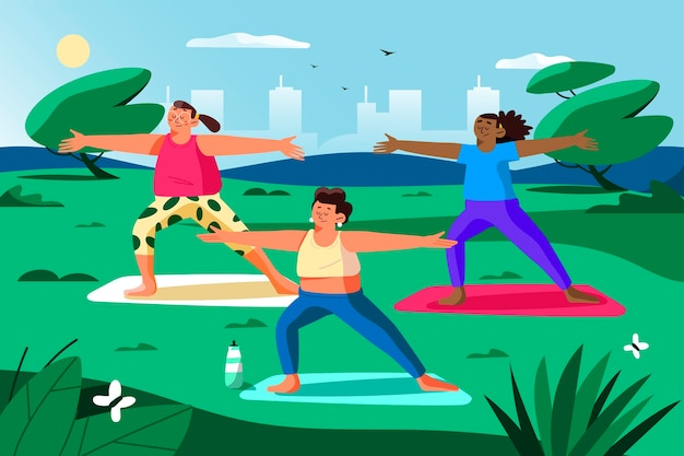 Open air yoga kurs