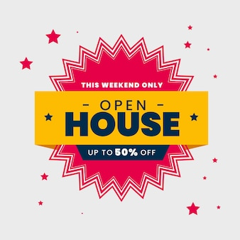 Open house immobilien label stil