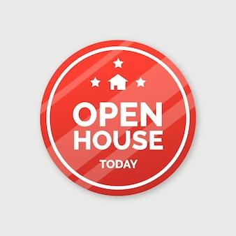 Open house label konzept