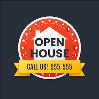 Open house label konzept