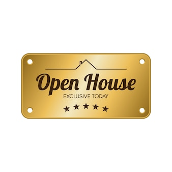 Open house label