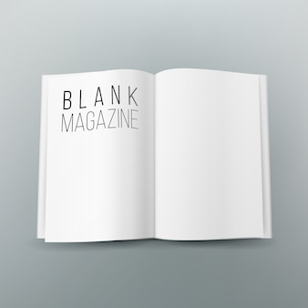 Open magazine spread blank vector