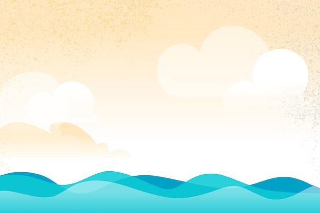 Open water scenario hintergrund mit wellen fließen