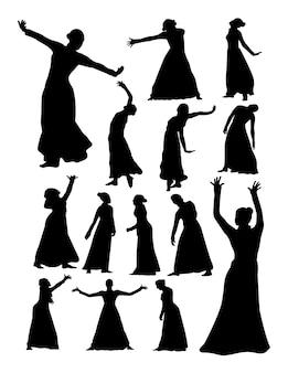 Oper und theater silhouette