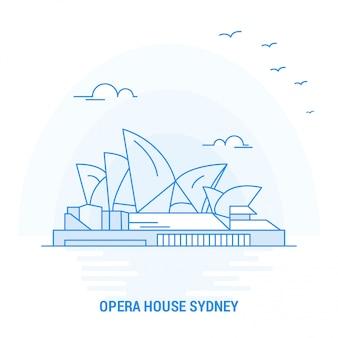 Opera house blue wahrzeichen