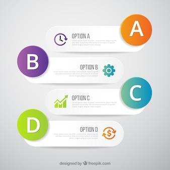 Optional banner infografik