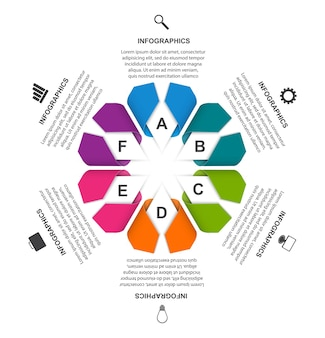 Optionen infografik illustration