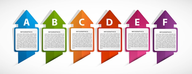Optionen infografik, zeitleiste, designvorlage für informationsbanner.