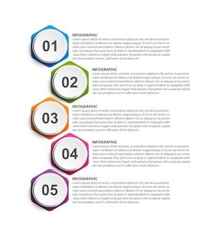 Optionen infografik, zeitleiste, designvorlage.
