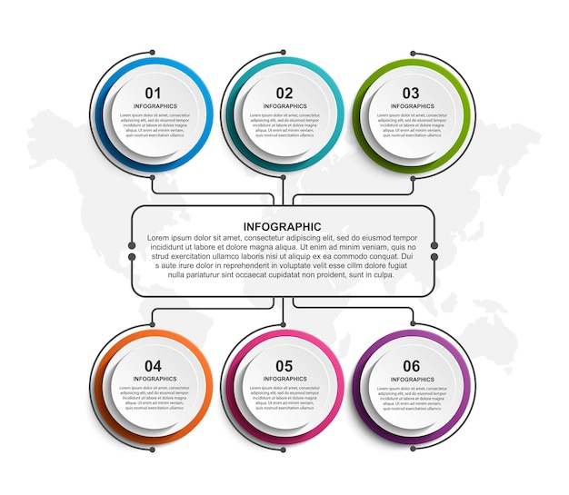 Optionen infografiken vorlage illustration