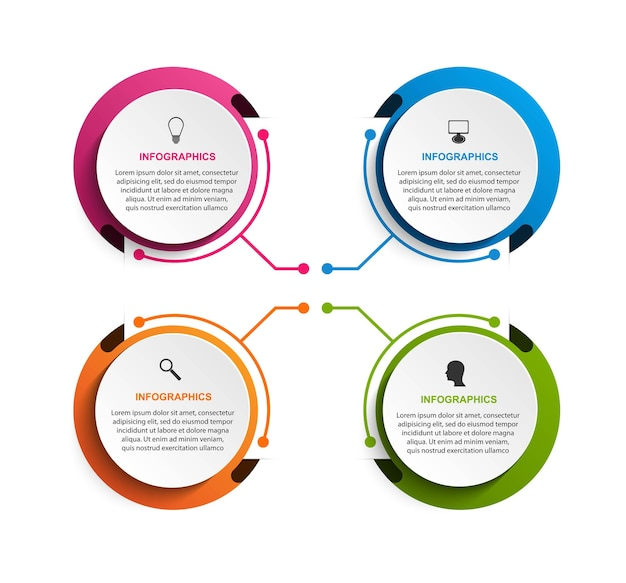 Optionen infografiken vorlage infografiken